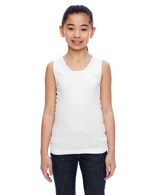 LAT Girls' Fine Jersey Tank - White