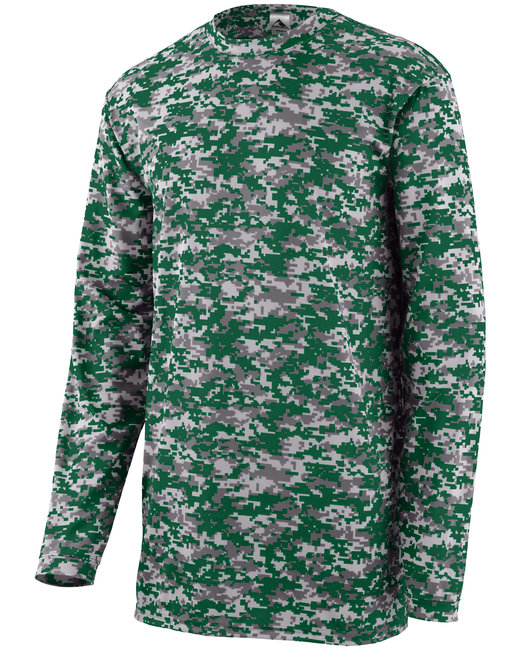 Youth Digi Camo Wickng Long-Sleeve T-Shrt