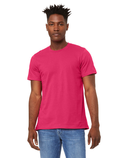 Bella + Canvas Unisex Jersey T-Shirt - Fuchsia