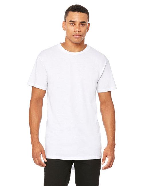 Bella + Canvas Men's Long Body Urban T-Shirt - White