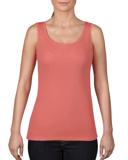 Comfort Colors Ladies' Midweight Tank - Neon Red Orange