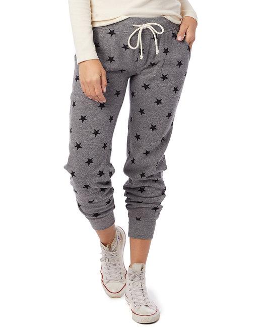 Alternative Ladies' Jogger Eco-Fleece Pant - Eco Grey Stars