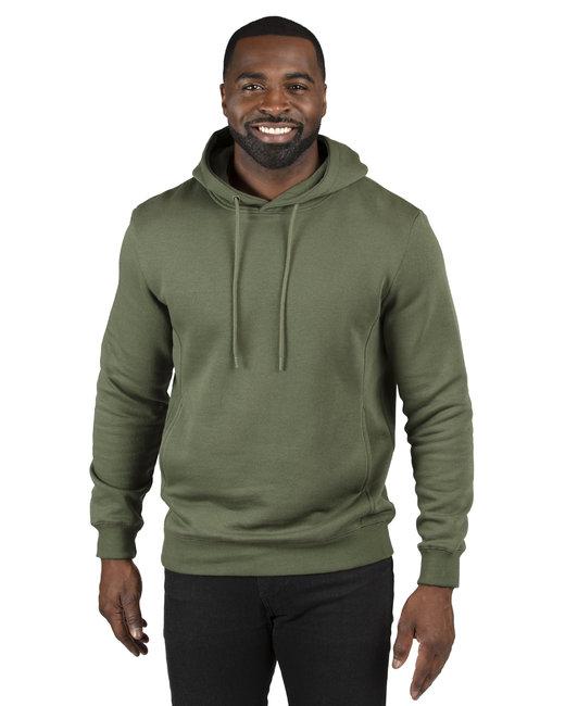 Threadfast Apparel Unisex Ultimate Fleece Pullover Hooded Sweatshirt - Army