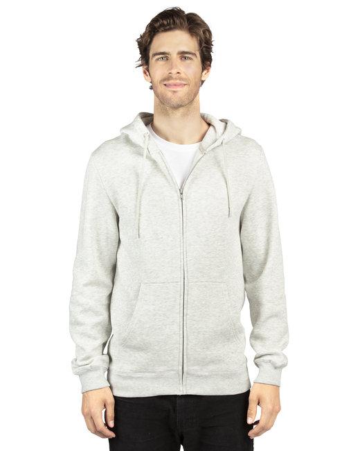 Threadfast Apparel Unisex Ultimate Fleece Full-Zip Hooded Sweatshirt - Oatmeal Heather