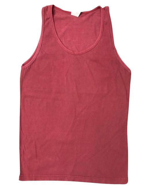 Collegiate Cotton Tank Top - Crimson