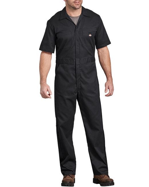 Dickies Men's FLEX Short-Sleeve Coverall - Black  L
