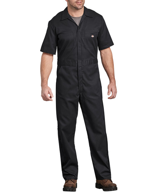 Dickies Men's FLEX Short-Sleeve Coverall - Black  Xl