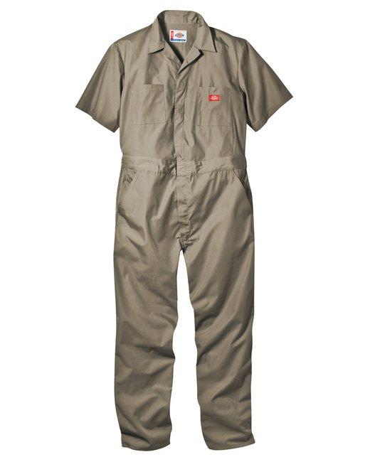 Dickies 5 oz. Short-Sleeve Coverall - Khaki  L