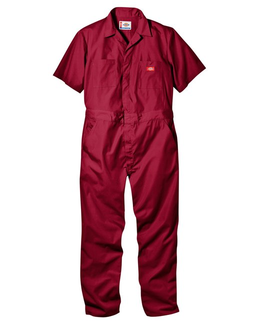 Dickies 5 oz. Short-Sleeve Coverall - Red  S