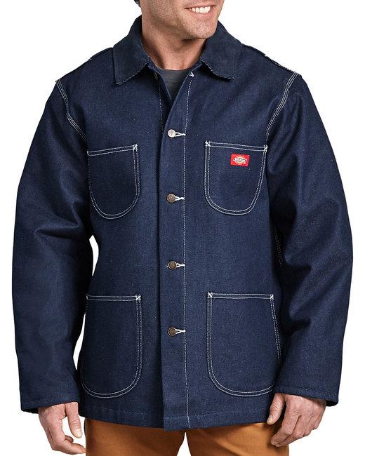 Dickies Unisex Denim Blanket Lined Chore Coat - Indigo Blue