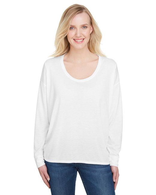 Anvil Ladies' Freedom Long-Sleeve T-Shirt - White