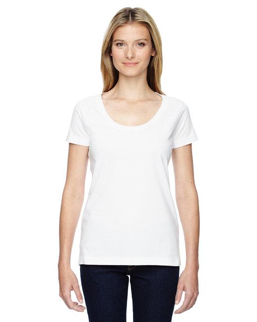 LAT Ladies'' Scoop Neck T-Shirt - White