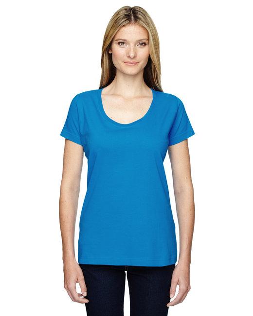 LAT Ladies'' Scoop Neck T-Shirt - Cobalt