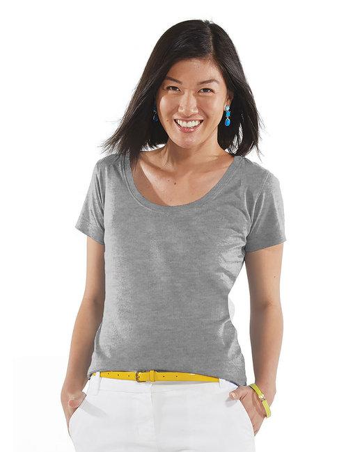 LAT Ladies'' Scoop Neck T-Shirt - Heather