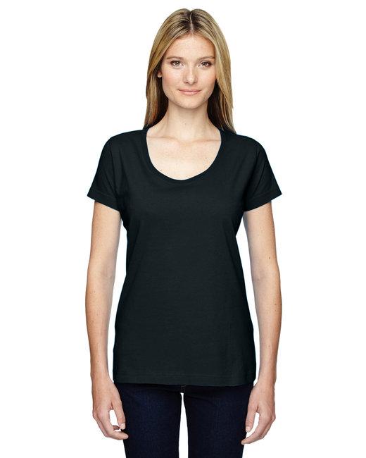 LAT Ladies'' Scoop Neck T-Shirt - Black