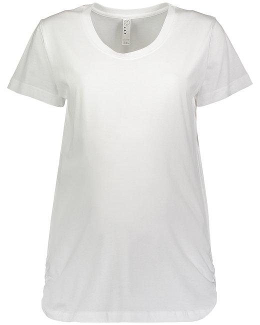 LAT Ladies' Maternity Fine Jersey T-Shirt - White