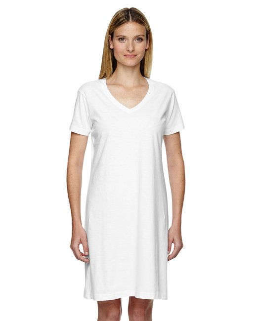 LAT Ladies' V-Neck Cover-Up - White