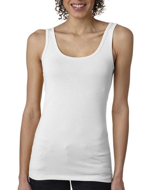 Next Level Ladies' Spandex Jersey Tank - White