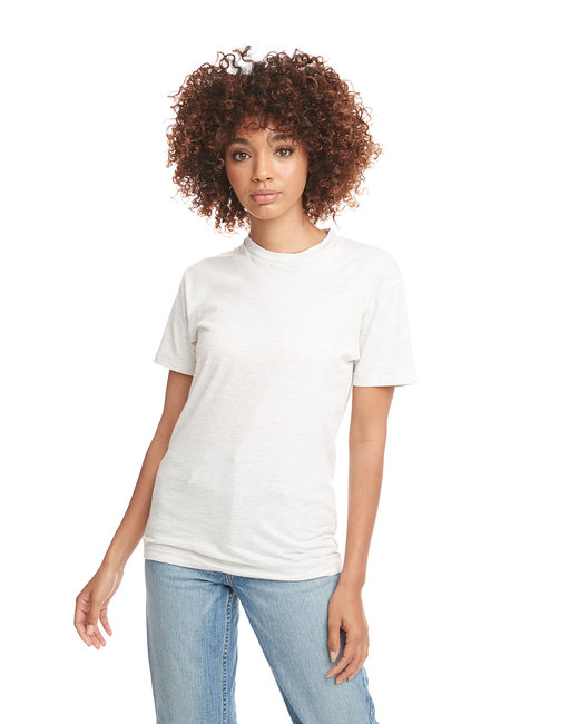 Next Level Men's Cotton Crew - White