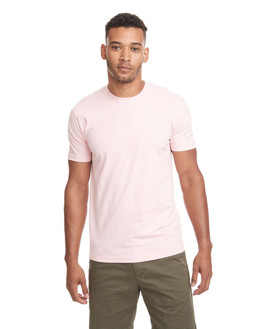 Next Level Men's Cotton Crew - Light Pink