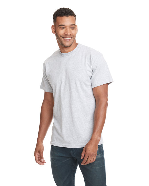 Next Level Men's Cotton Crew - Heather Gray