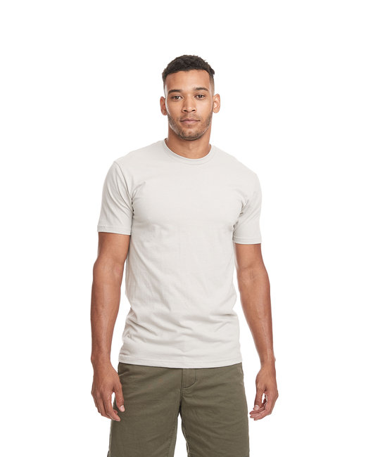 Next Level Men's Cotton Crew - Light Gray