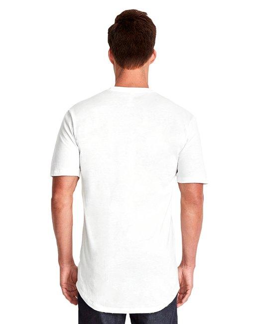 Next Level Men's Cotton Long Body Crew - White