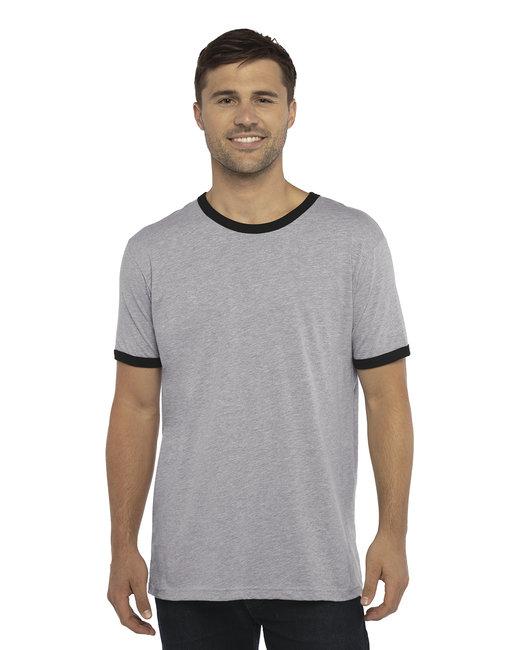 Next Level Unisex Ringer T-Shirt - Hthr Gray/ Black