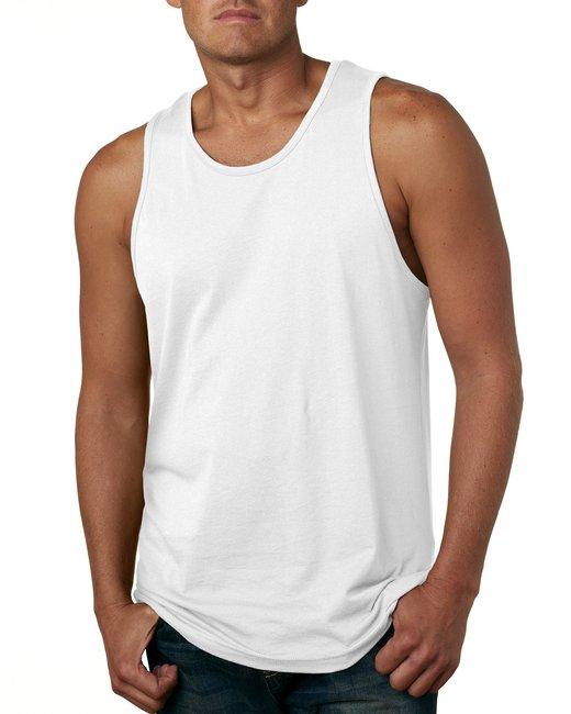 Next Level Men's Cotton Tank - White