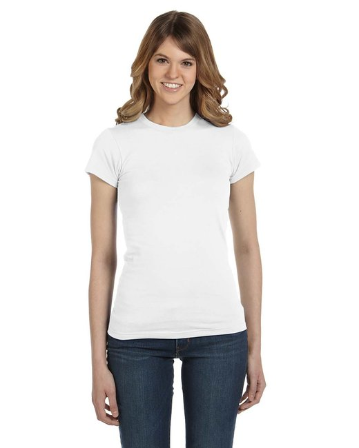 Anvil Ladies' Lightweight Fitted T-Shirt - White