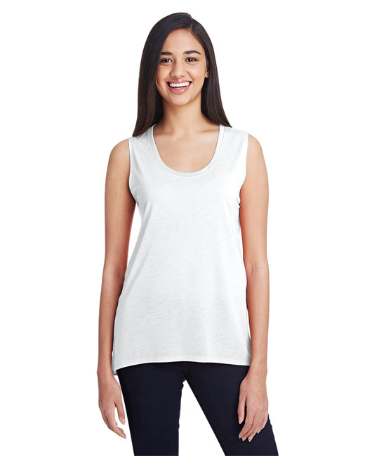 Anvil Ladies' Freedom Sleeveless T-Shirt - White