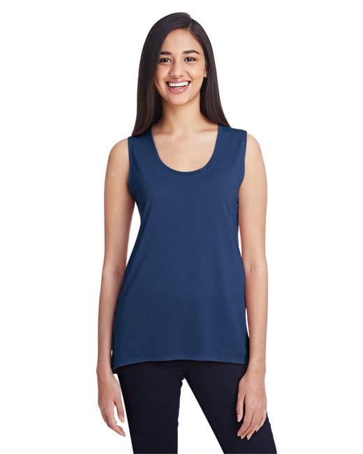 Anvil Ladies' Freedom Sleeveless T-Shirt - Navy