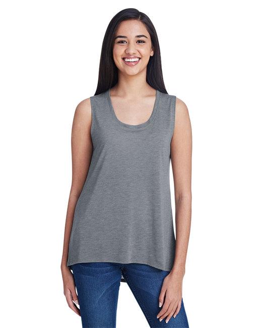 Anvil Ladies' Freedom Sleeveless T-Shirt - Heather Graphite