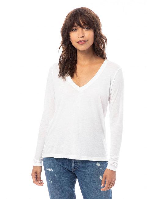 Alternative Ladies Deep V-Neck T-Shirt - White