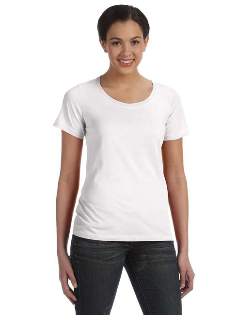 Anvil Ladies' Featherweight Scoop T-Shirt - White