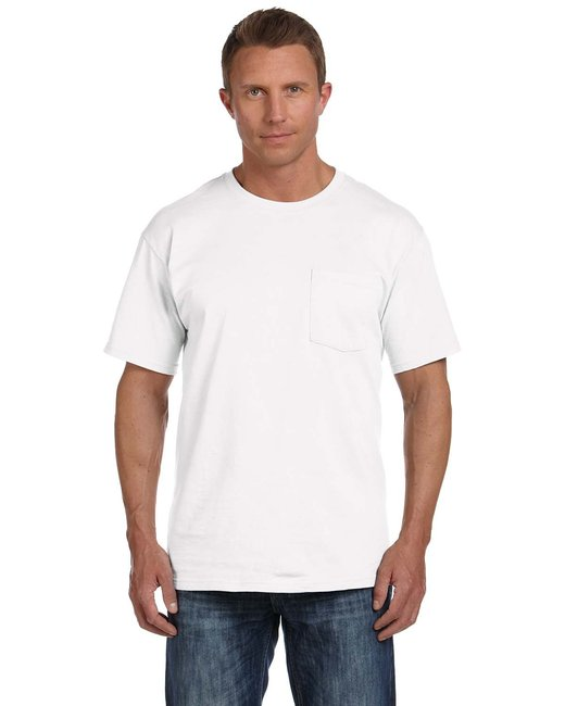 Fruit of the Loom Adult 5 oz. HD Cotton™ Pocket T-Shirt - White
