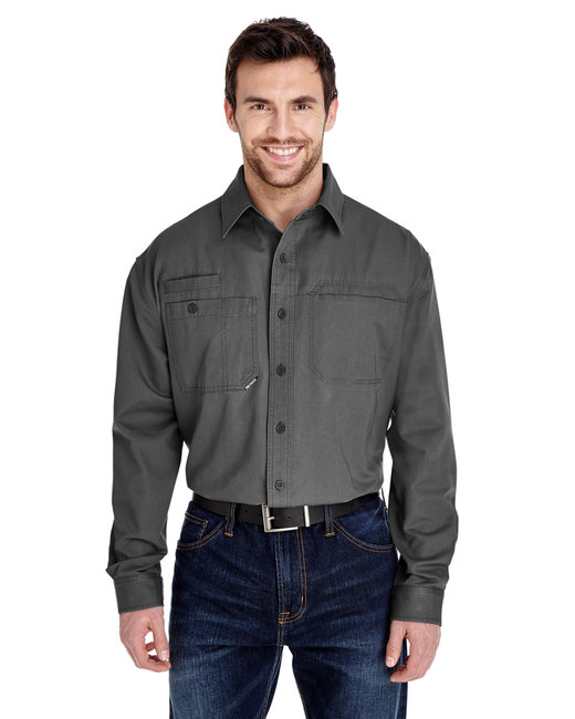 Dri Duck Men's Mason Shirt - Grey