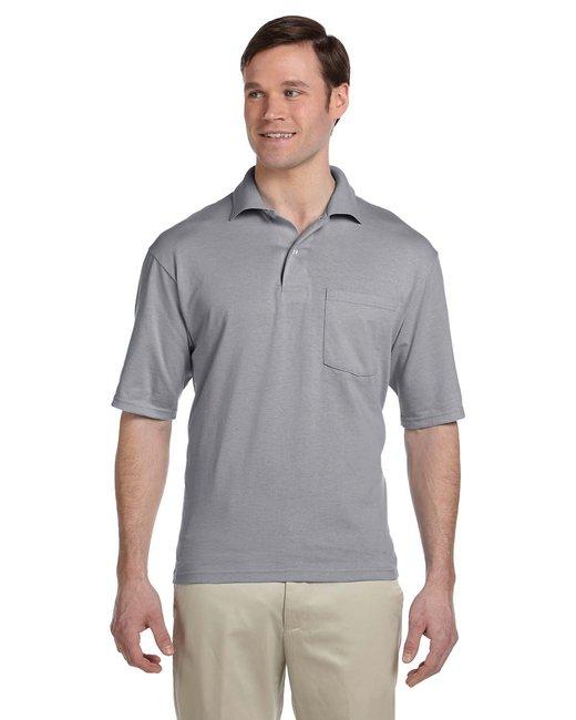 Jerzees Adult 5.6 oz. SpotShield™ Pocket Jersey Polo - Oxford