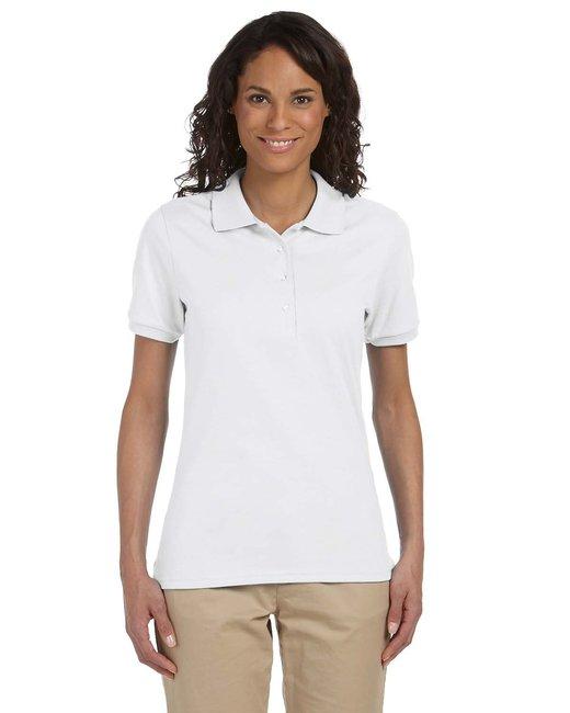 Jerzees Ladies' 5.6 oz. SpotShield™ Jersey Polo - White