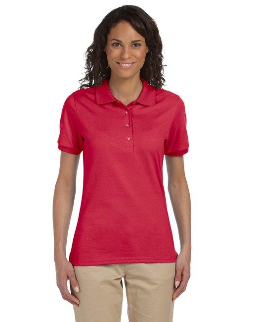 Jerzees Ladies' 5.6 oz. SpotShield™ Jersey Polo - True Red