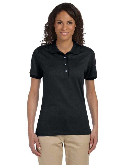 Jerzees Ladies' 5.6 oz. SpotShield™ Jersey Polo - Black