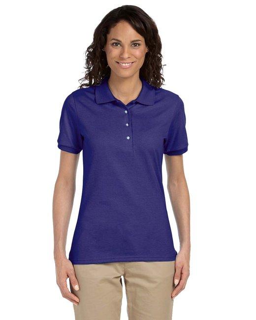 Jerzees Ladies' 5.6 oz. SpotShield™ Jersey Polo - Deep Purple