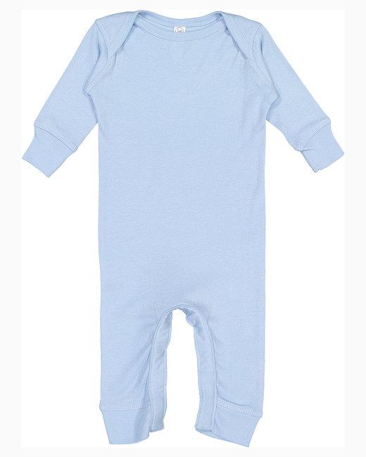 Rabbit Skins Infant Baby Rib Coverall - Light Blue
