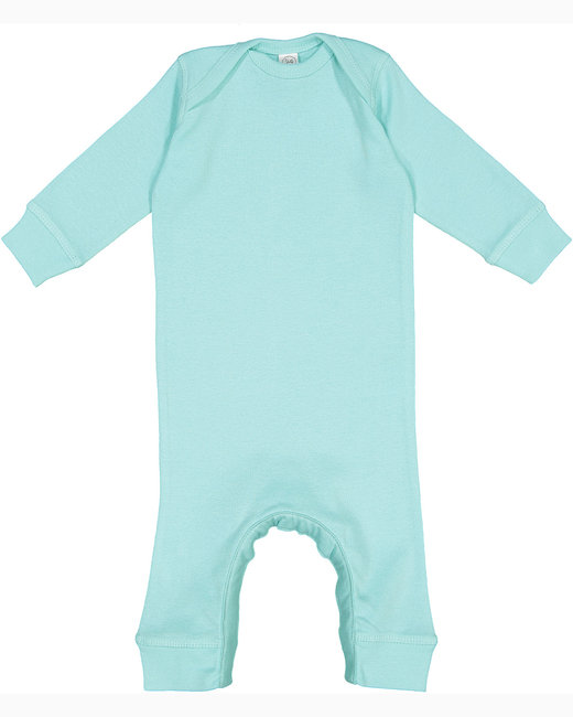 Rabbit Skins Infant Baby Rib Coverall - Chill