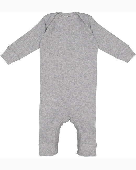 Rabbit Skins Infant Baby Rib Coverall - Heather