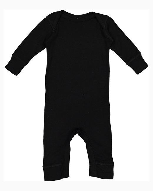 Rabbit Skins Infant Baby Rib Coverall - Black