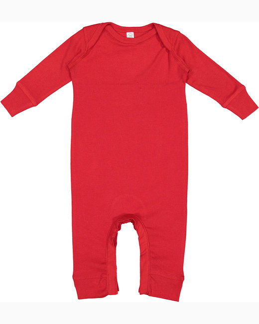 Rabbit Skins Infant Baby Rib Coverall - Red