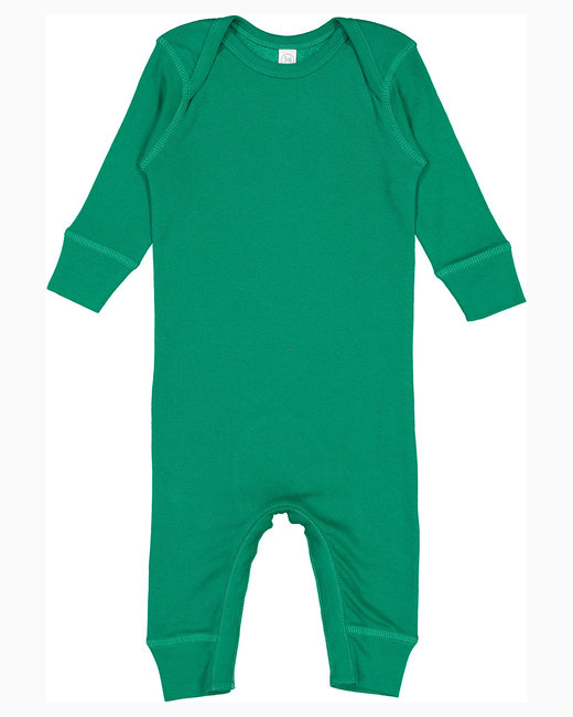 Rabbit Skins Infant Baby Rib Coverall - Kelly