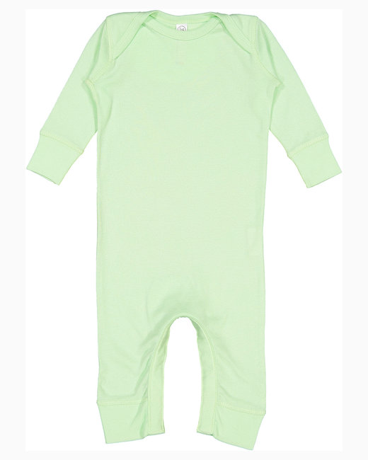 Rabbit Skins Infant Baby Rib Coverall - Mint