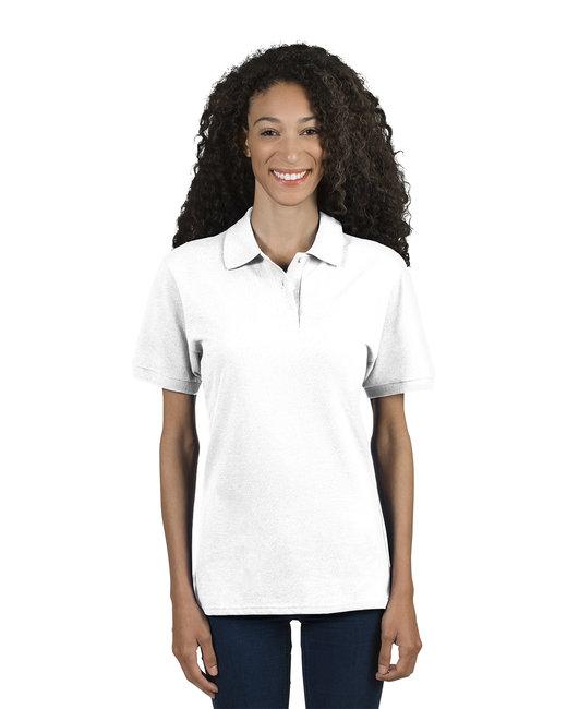 Jerzees Ladies' 6.5 oz. Premium 100% Ringspun Cotton Piqué Polo - White